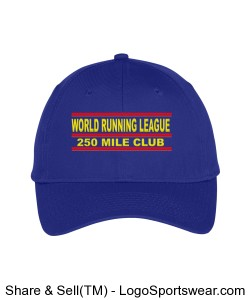 World Running League 250 Mile Club Hat Design Zoom