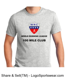WORLD RUNNING LEAGUE - 100 MILE CLUB SHIRT Design Zoom